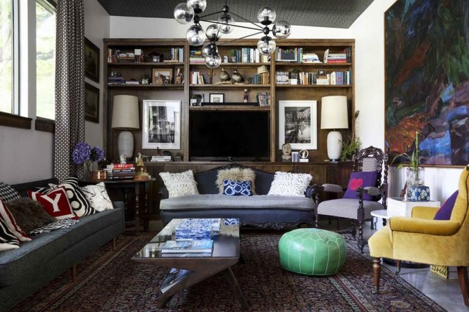 boho-home-decor-living-room-6-675x450 +45 Stellar Boho Interior Designs & Trends for 2019