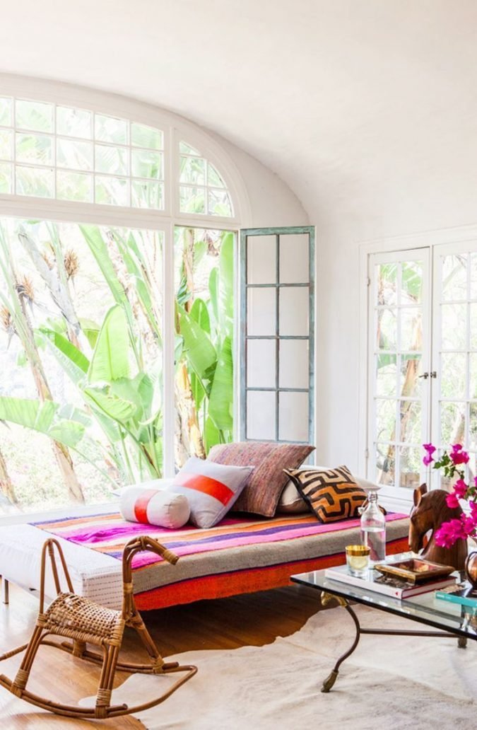 boho-home-decor-living-room-675x1032 +45 Stellar Boho Interior Designs & Trends for 2019