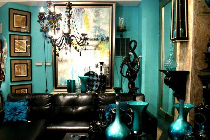 boho-home-decor-livingroom-dark-walls-675x450 +45 Stellar Boho Interior Designs & Trends for 2020