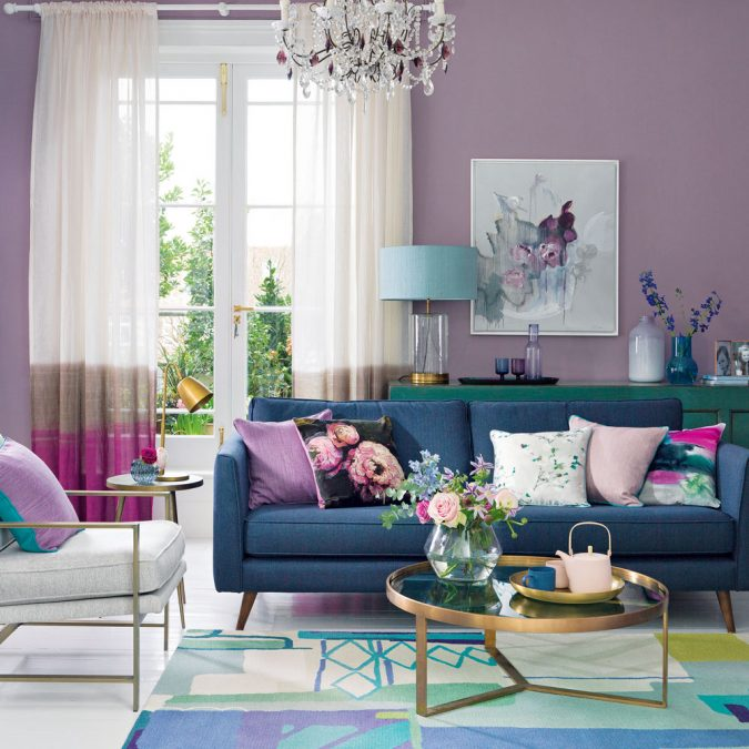 boho-home-decor-purple-living-room-ideas-675x675 +45 Stellar Boho Interior Designs & Trends for 2019