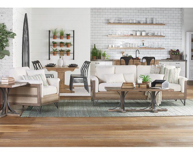 boho-home-decor-wooden-floor-living-room-kitchen-arch-paradigm-rs-675x540 +45 Stellar Boho Interior Designs & Trends for 2020