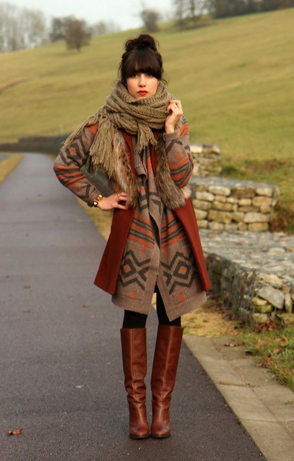 boho-outfit-with-scarf 7 Bohemian Fashion Trends for Fall-Winter 2021