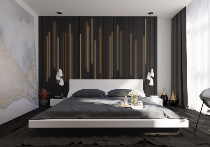 home-decor-modern-bedroom-accent-wall-decor-focal-wall-675x474 Checklist: What to Consider When Decorating Your Bedroom