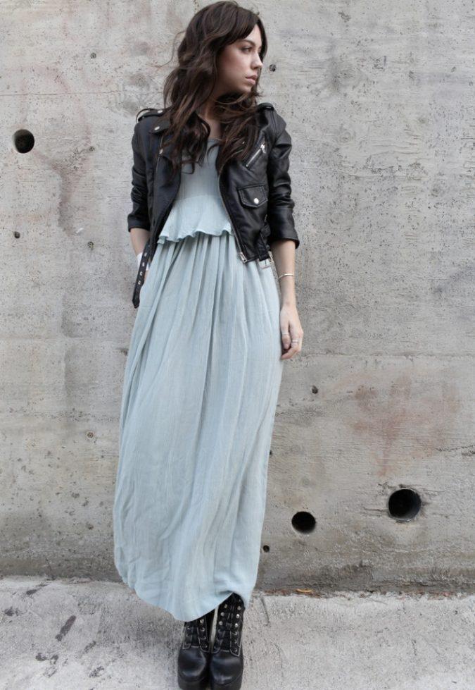 maxi-dress-biker-boots-boho-outfit-675x979 70+ Retro Fashion Ideas & Trends for Fall/Winter 2020