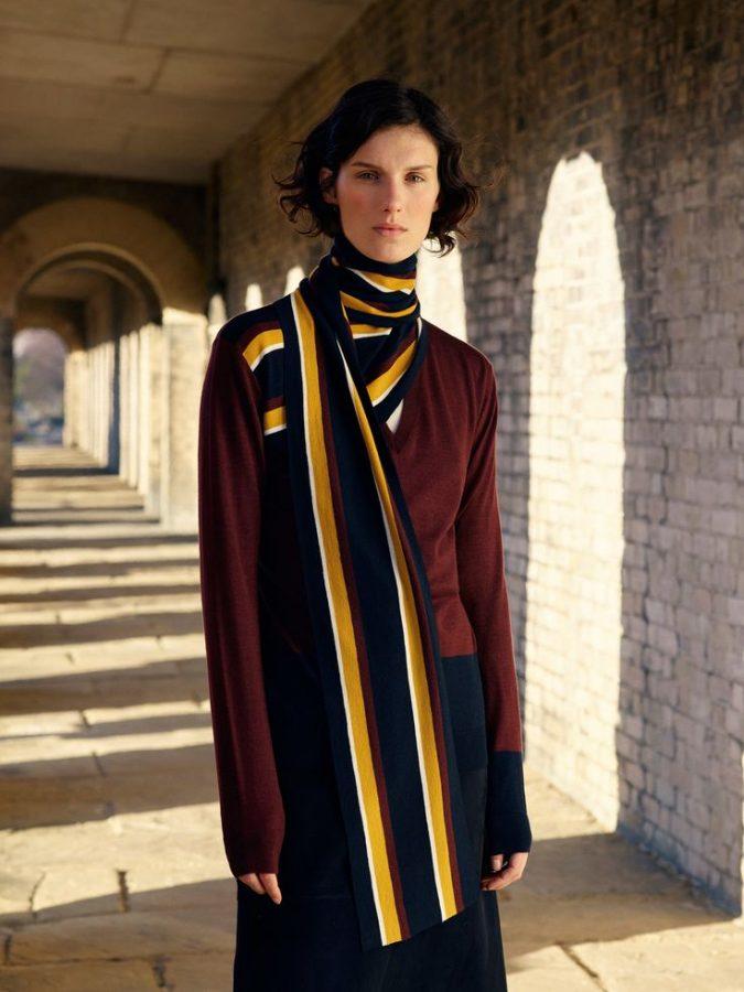 winter-scarf-pringle-of-scotland-stripes-fashion-675x900 8 Trendy Ways to Wear Winter Scarves Creatively