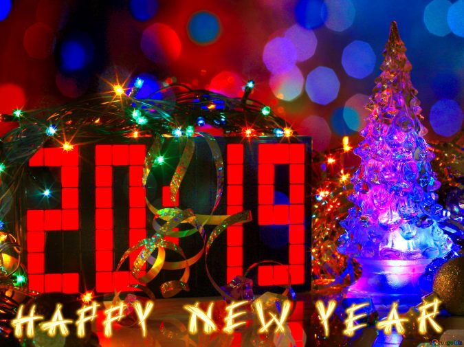 2019-happy-new-year-card-675x505 50+ Best Merry Christmas & Happy New Year Greeting Cards 2019 - 2020