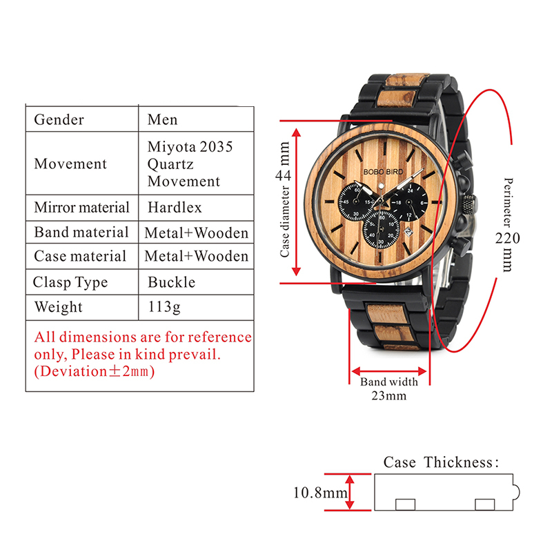 93615-9551a5 Luxury Wooden Watches For Men