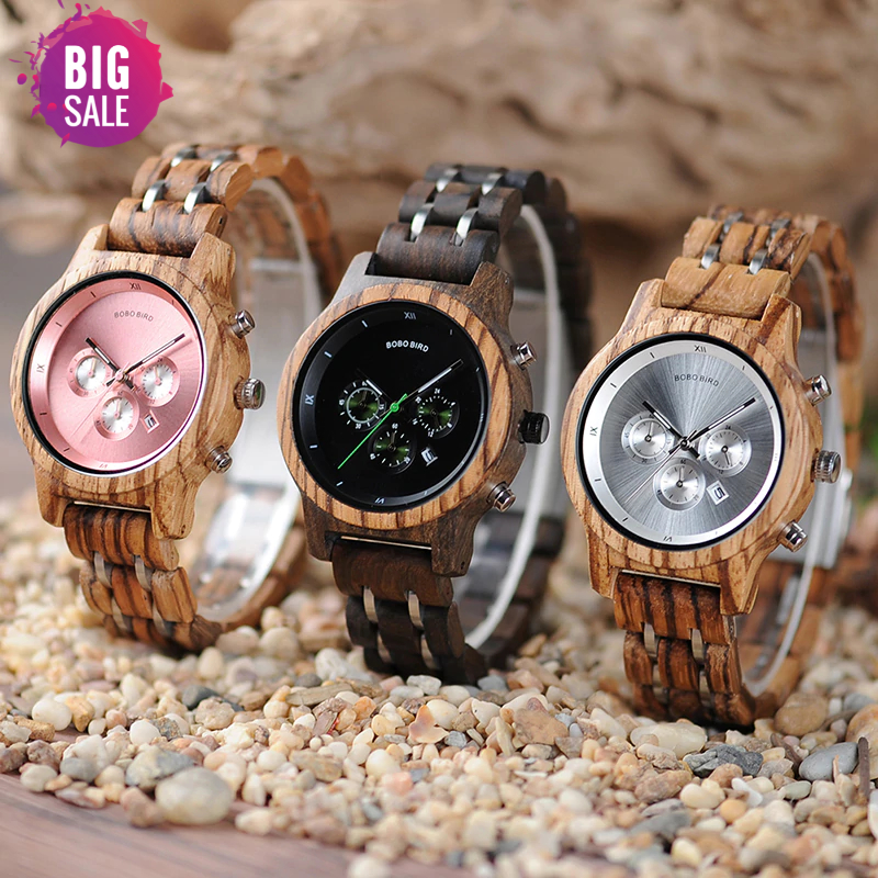 93628-d4ca76 Luxury Wooden Watches For Women .. [in Wooden Gift Box]