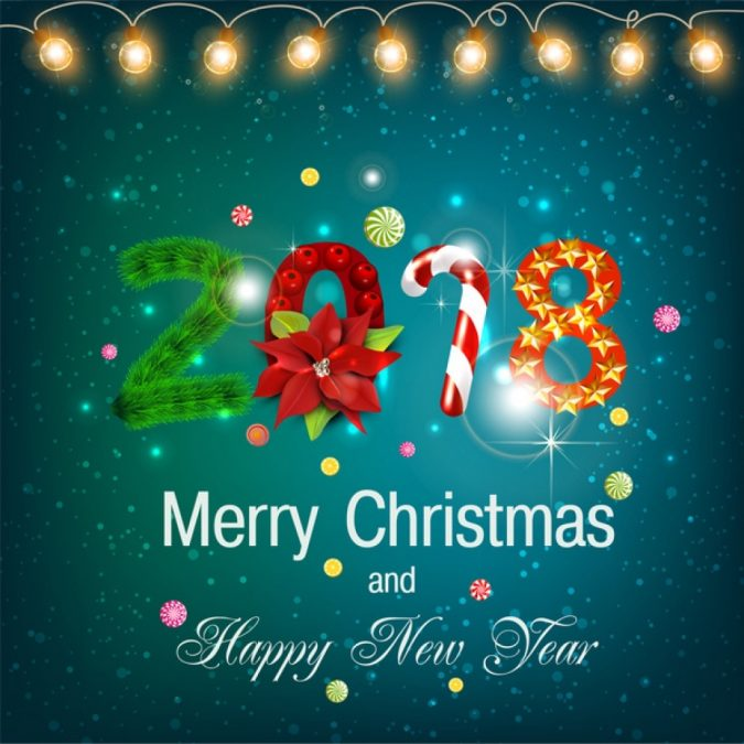 Christmas-new-year-card-2018-2019-675x675 50+ Best Merry Christmas & Happy New Year Greeting Cards 2019 - 2020