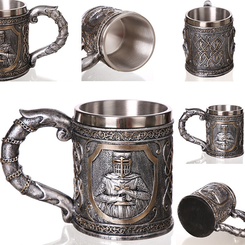 Creative-3D-Viking-Warrior-Skull-Mug-10 Creative 3D Viking Warrior Skull Mug