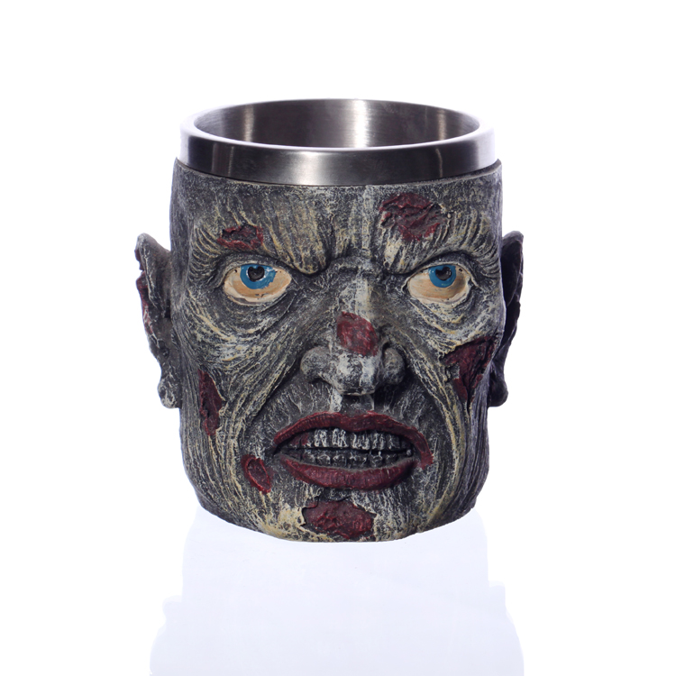 Creative-3D-Viking-Warrior-Skull-Mug-4 Creative 3D Viking Warrior Skull Mug
