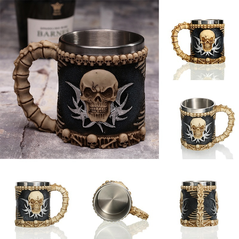 Creative-3D-Viking-Warrior-Skull-Mug-5 Creative 3D Viking Warrior Skull Mug