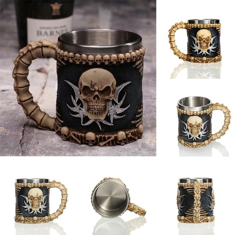 Creative-3D-Viking-Warrior-Skull-Mug-5 Creative 3D Viking Warrior Skull Mug