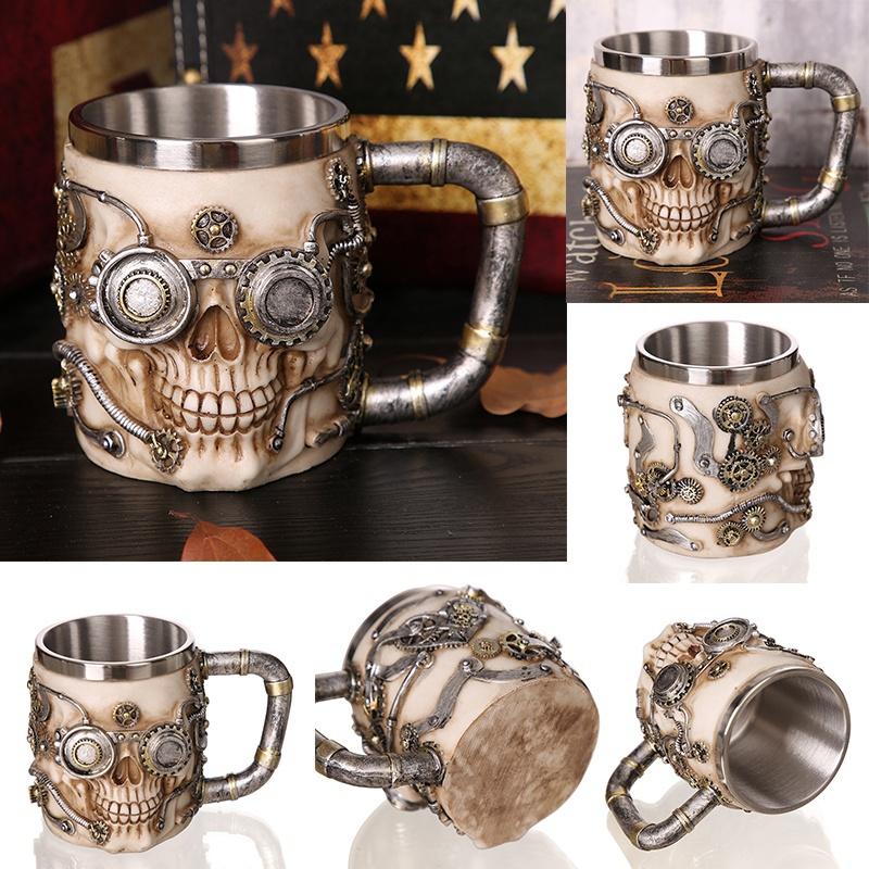 Creative-3D-Viking-Warrior-Skull-Mug-9 Creative 3D Viking Warrior Skull Mug