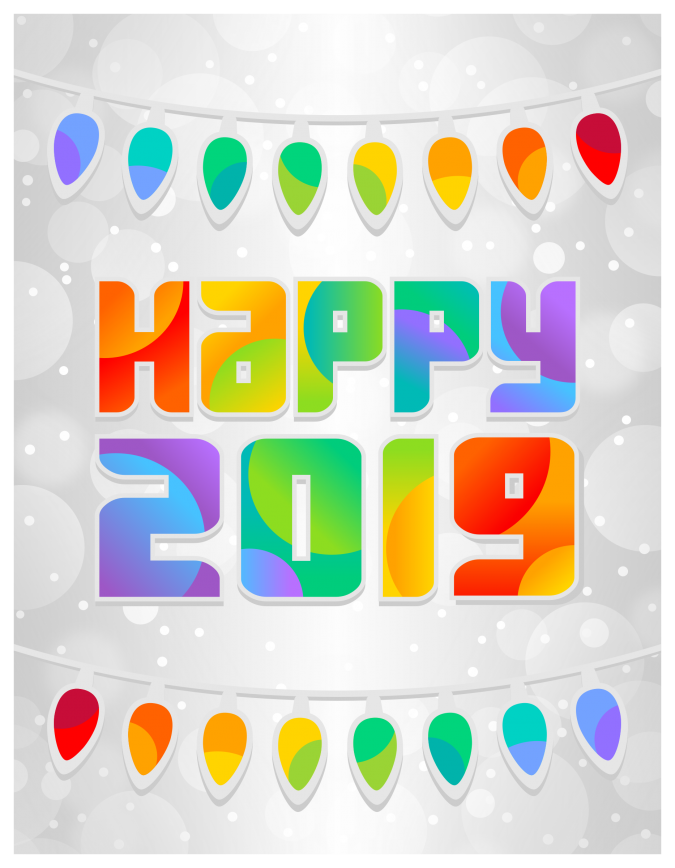 Happy-new-year-card-2019-1-675x868 50+ Best Merry Christmas & Happy New Year Greeting Cards 2019 - 2020