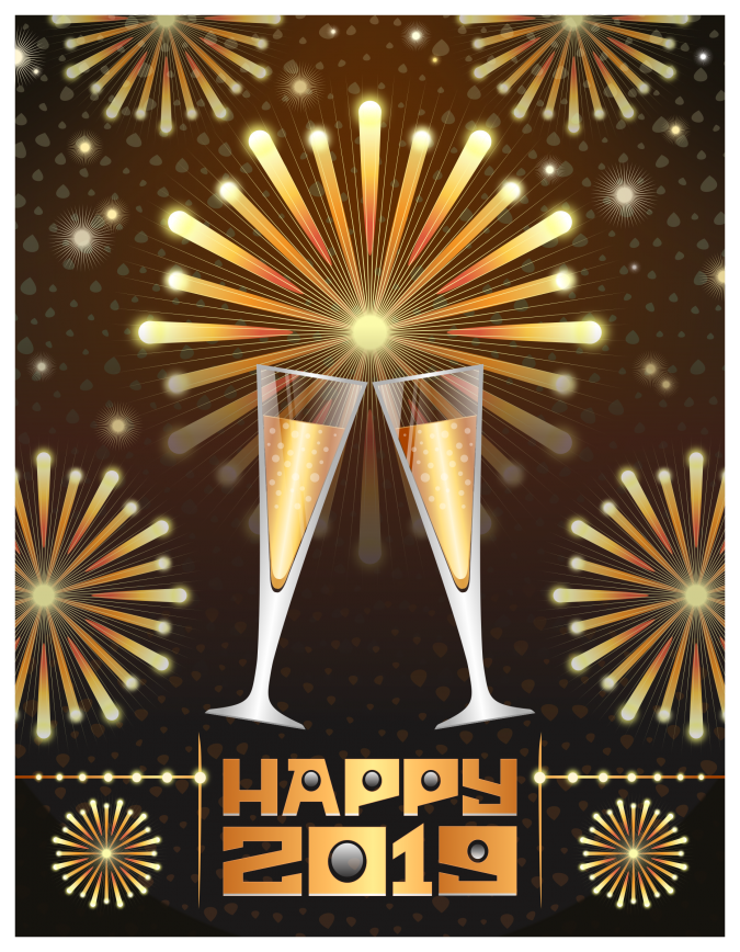 Happy-new-year-card-2019-675x868 50+ Best Merry Christmas & Happy New Year Greeting Cards 2019 - 2020