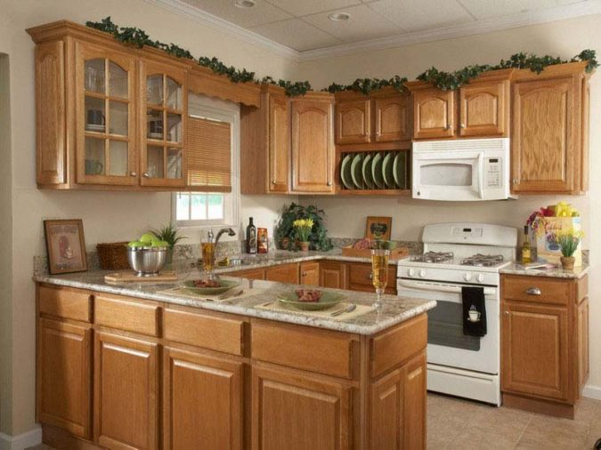 Kitchen-decor-oak-wood-cabinets-675x506 10 Outdated Kitchen Trends to Substitute in 2020