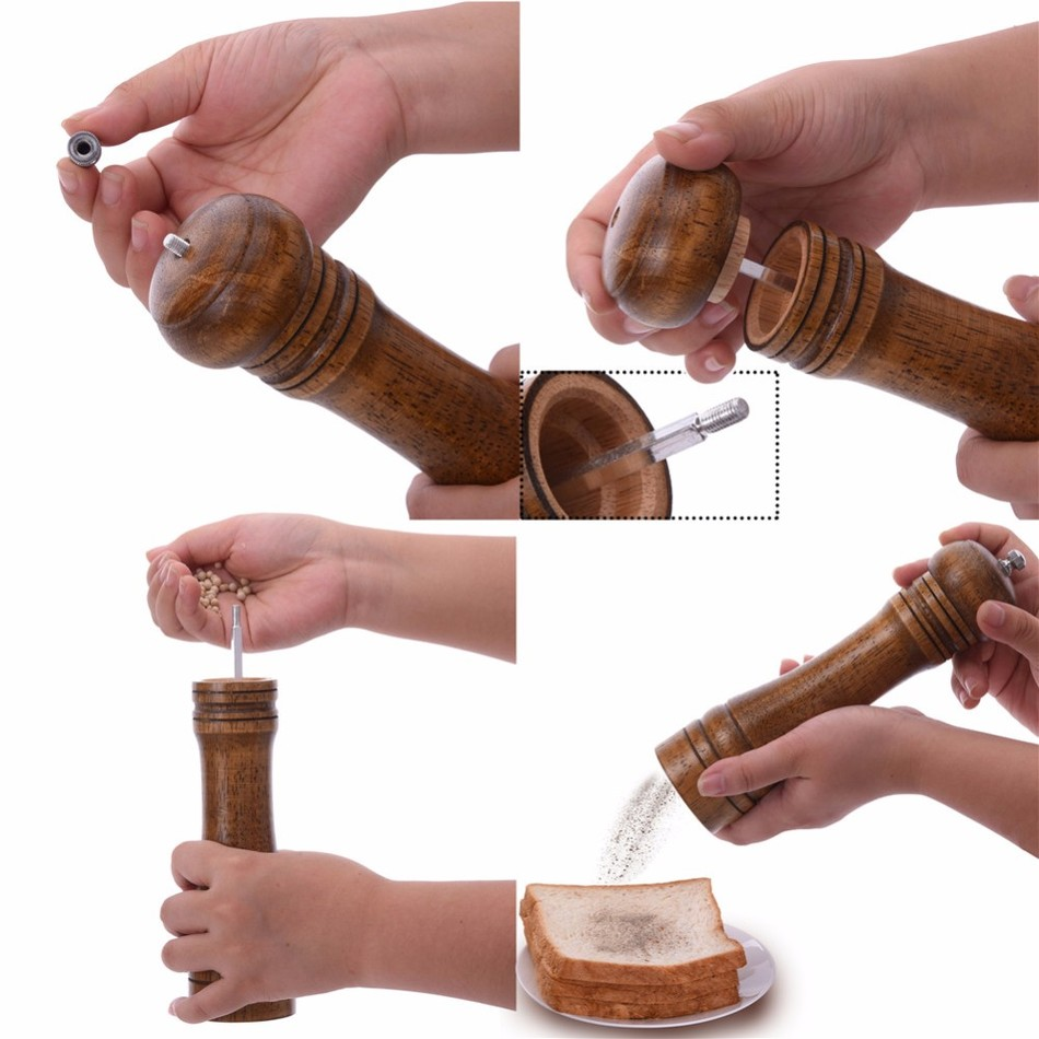Oak-Wood-Salt-and-Pepper-Mill-Spice-Grinder-2 Premium Oak Wood Spice Grinder