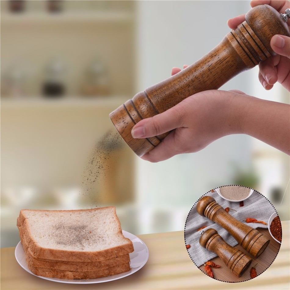 Oak-Wood-Salt-and-Pepper-Mill-Spice-Grinder-6 Premium Oak Wood Spice Grinder