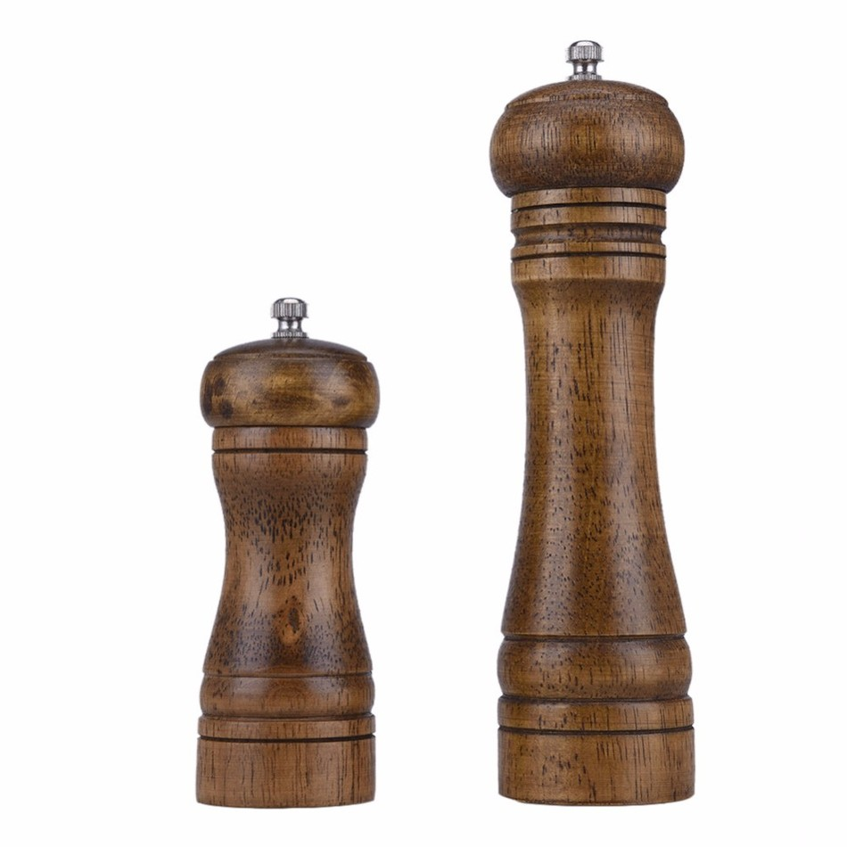 premium oak wood salt and pepper mill spice grinder. Black Bedroom Furniture Sets. Home Design Ideas