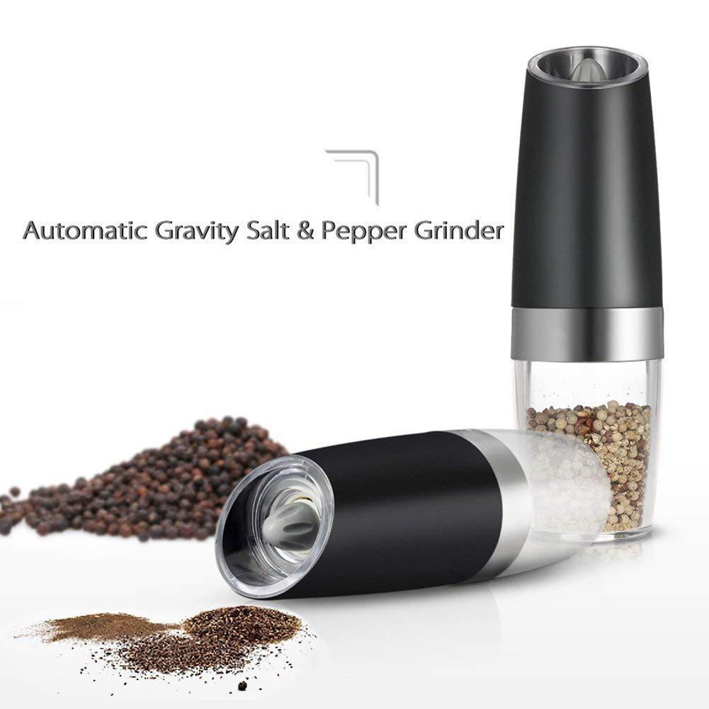 Portable-Electric-Stainless-Steel-Pepper-and-Salt-Grinder-with-Blue-LED-Light-14 Smart Electric Grinder with Blue LED Light
