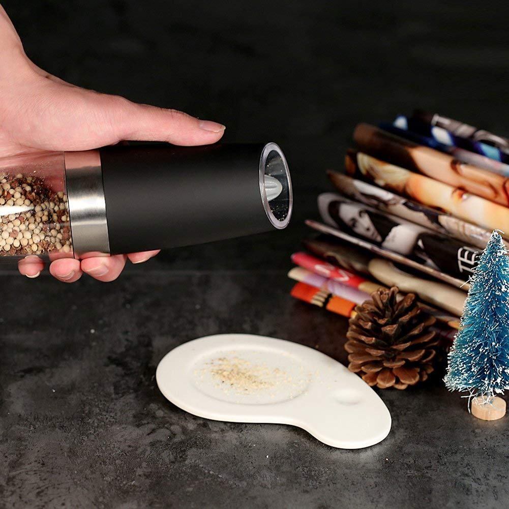 Portable-Electric-Stainless-Steel-Pepper-and-Salt-Grinder-with-Blue-LED-Light-17 Smart Electric Grinder with Blue LED Light