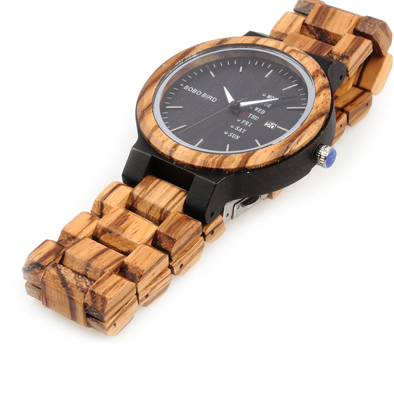 Unique-Masculino-Wooden-Watch-For-Men-2 Unique Masculino Wooden Watch For Men [In Wooden Gift Box]