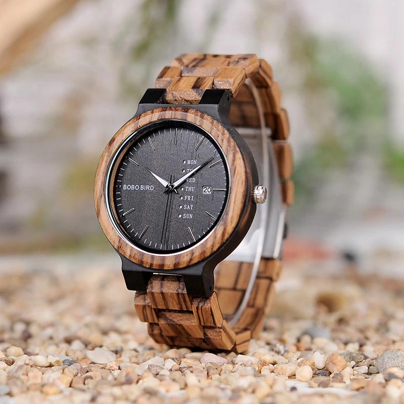 Unique-Masculino-Wooden-Watch-For-Men Unique Masculino Wooden Watch For Men [In Wooden Gift Box]