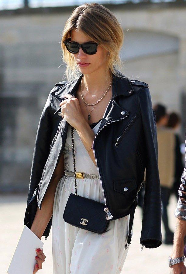 fall-fashion-2018-leather-jacket 70+ Retro Fashion Ideas & Trends for Fall/Winter 2020