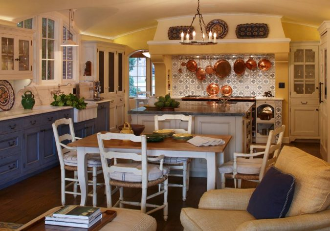 french-country-style-kitchen-675x473 10 Outdated Kitchen Trends to Substitute in 2019