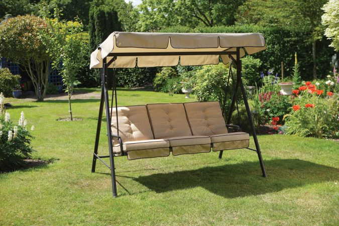garden-swing-lounger-wooden-hanging-swing-chair-Outdoor-e1542037175938-675x450 +7 Ideas to Revamp Your Garden for 2020