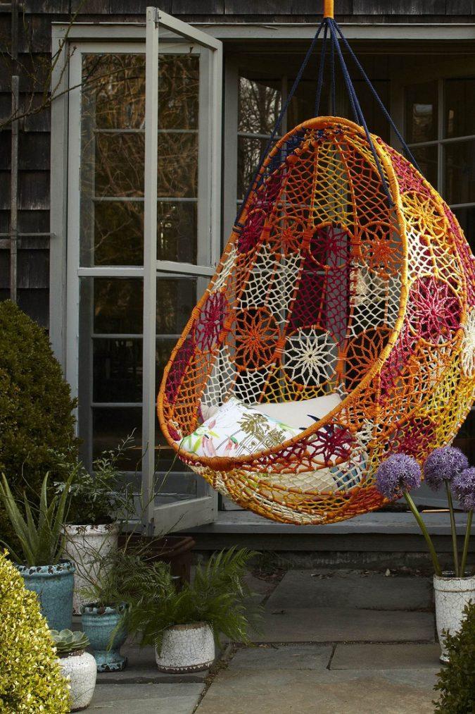 home-garden-hanging-chair-e1542044688633-675x1013 +7 Ideas to Revamp Your Garden for 2020
