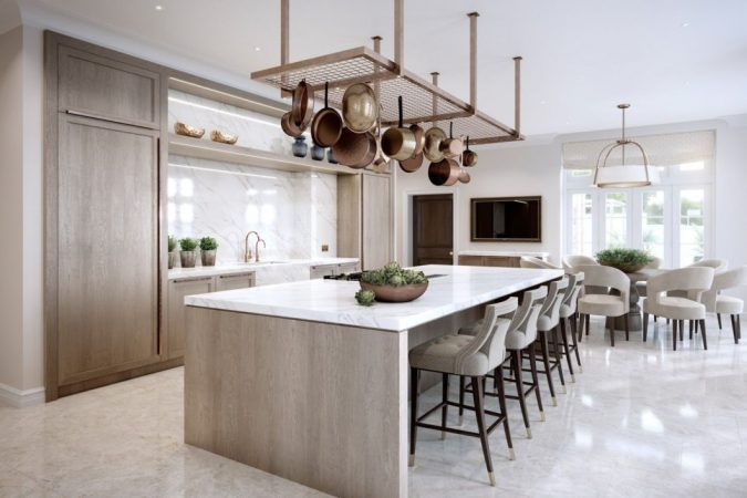 kitchen-decor-pot-rack-675x450 10 Outdated Kitchen Trends to Substitute in 2019
