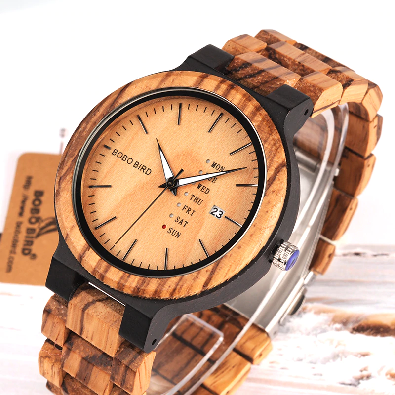 men-wooden-watch Unique Masculino Wooden Watch For Men [In Wooden Gift Box]