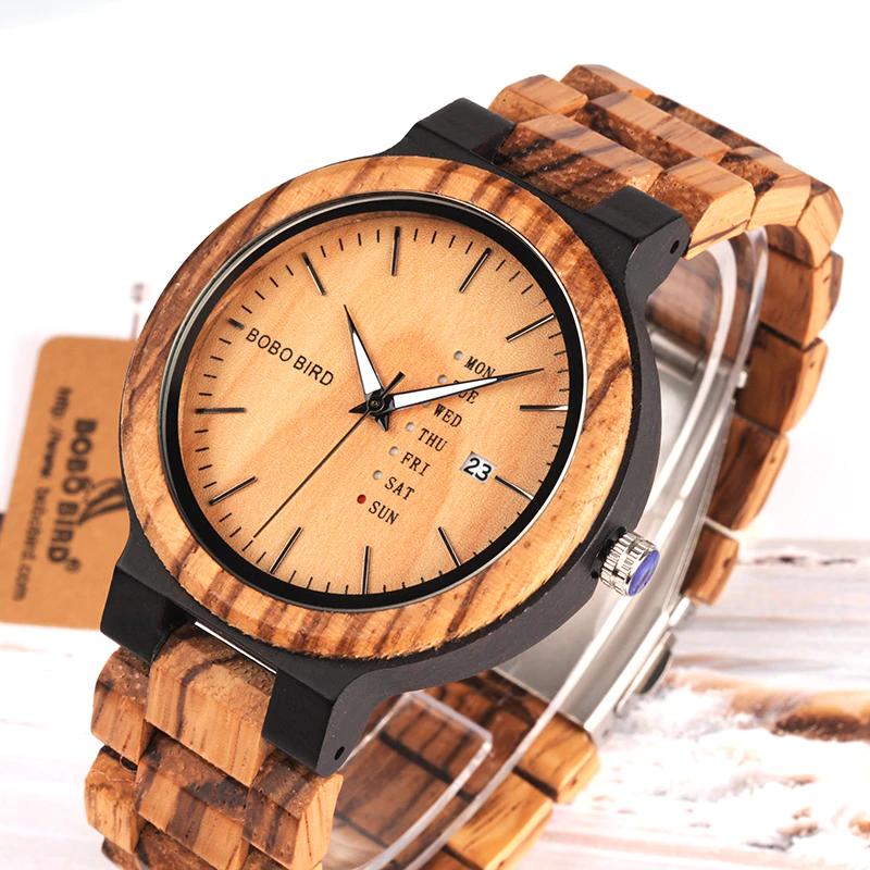 men-wooden-watch Unique Masculino Wooden Watch For Men [In Wooden Gift Box]