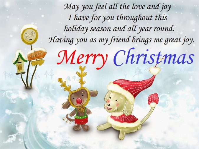 merry-christmas-wishes-card-for-friends-675x506 50+ Best Merry Christmas & Happy New Year Greeting Cards 2018-2019