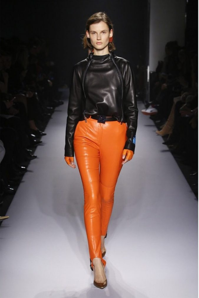 outfit-leather-jacket-ORANGE-Lanvin-675x1008 70+ Retro Fashion Ideas & Trends for Fall/Winter 2019