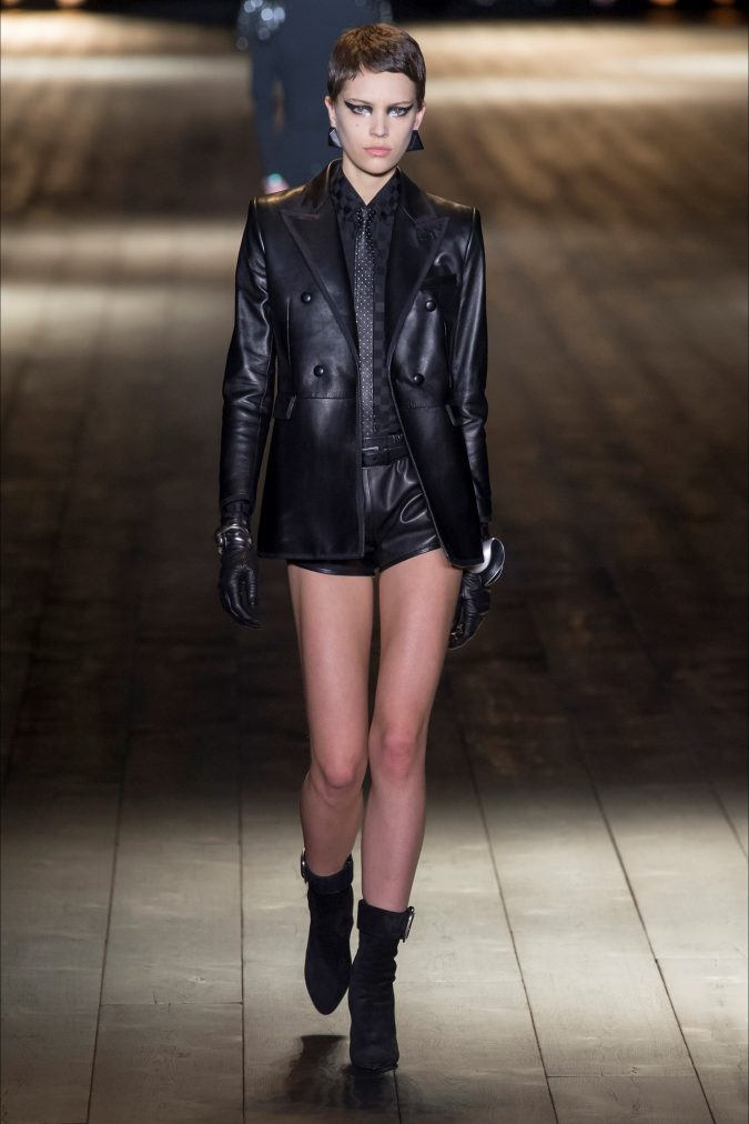 retro-fashion-leather-jacket-Saint-LAurent-fall-winter-2019-_SAI0357_20180227232255-675x1012 70+ Retro Fashion Ideas & Trends for Fall/Winter 2019
