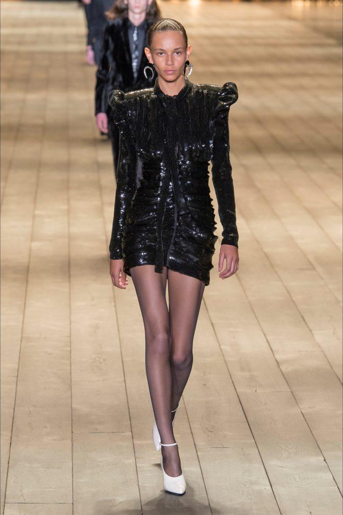 retro-fashion-mini-dress-footweat-white-shoes-Saint-Laurent-fall-winter-2019-_SAI0707_20180227232539-675x1012 70+ Retro Fashion Ideas & Trends for Fall/Winter 2020