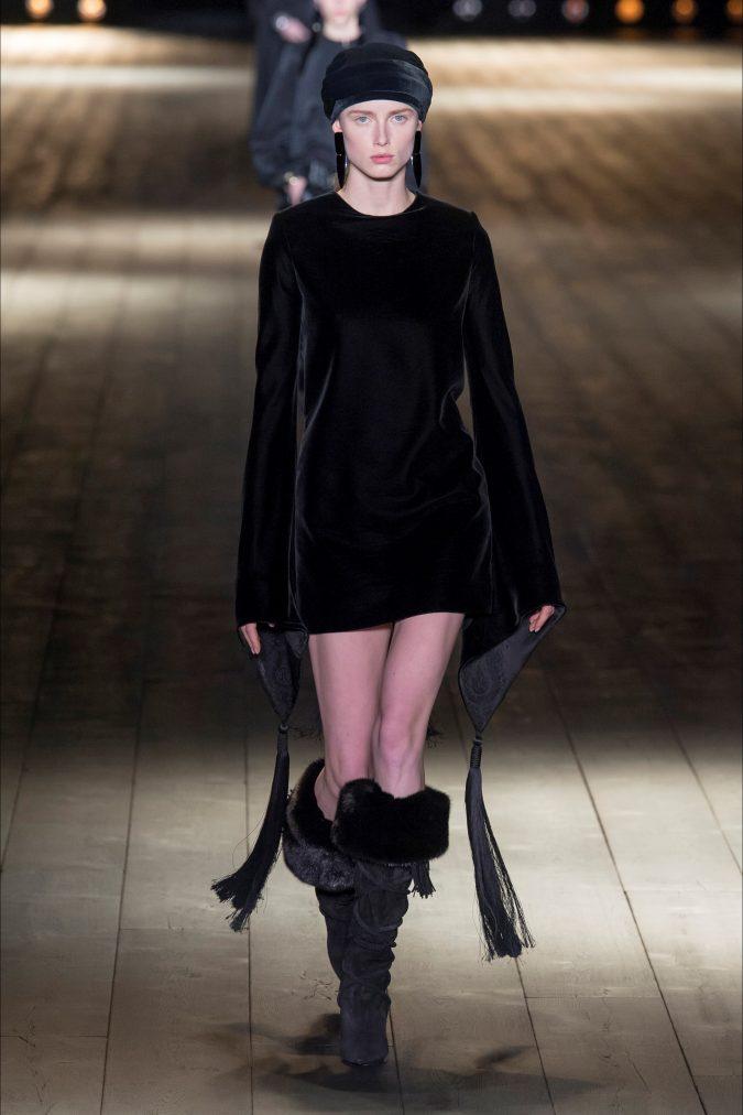 retro-fashion-outfit-mini-dress-Saint-Laurent-fall-winter-2019-_SAI0195_20180227232329-675x1012 70+ Retro Fashion Ideas & Trends for Fall/Winter 2020