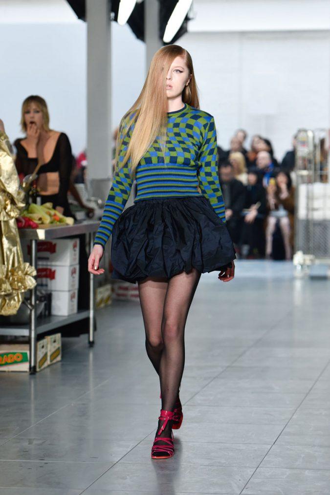 retro-fashion-outfit-mini-skirt-Molly-Goddard-AW18-Look-25-675x1013 70+ Retro Fashion Ideas & Trends for Fall/Winter 2019