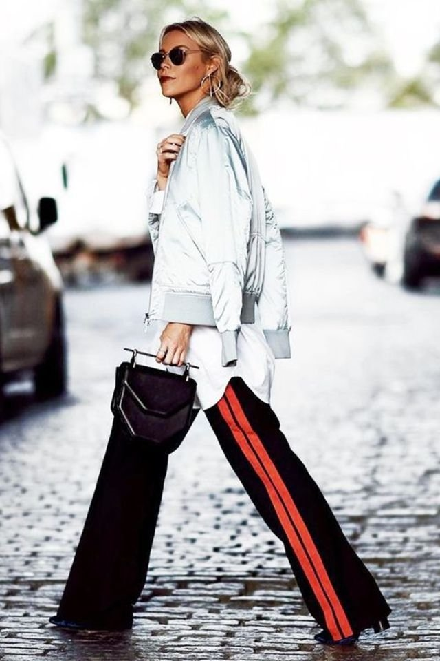 retro-outfit-track-pants-Side-Stripe-Pants 70+ Retro Fashion Ideas & Trends for Fall/Winter 2019