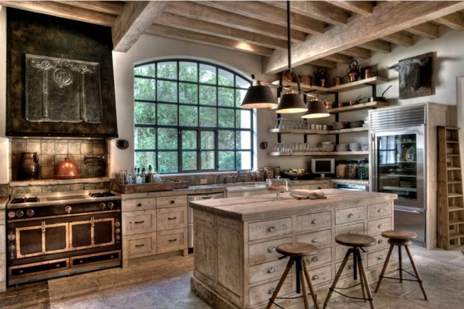 white-washed-rustic-kitchen-675x450 10 Outdated Kitchen Trends to Substitute in 2019