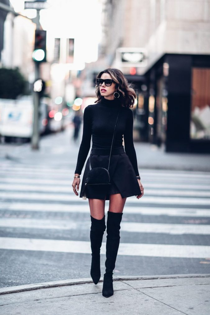 winter-outfit-mini-skirt-675x1013 70+ Retro Fashion Ideas & Trends for Fall/Winter 2019