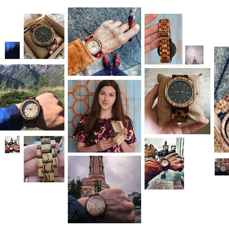 wooden-watch Unique Masculino Wooden Watch For Men [In Wooden Gift Box]