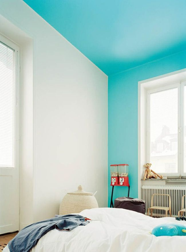 Bright-Color-For-Ceiling Top 10 Ways to Make A House Look Bigger And More Spacious