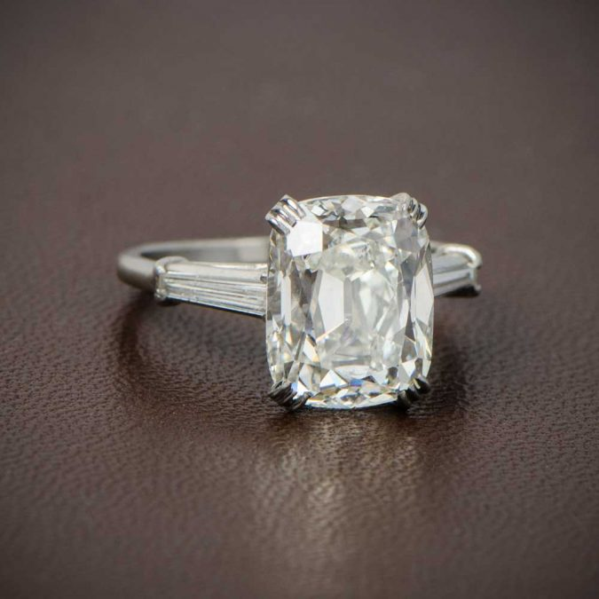 Cushion-Cut-Engagement-Ring-Artistic-675x675 Diamond Cuts and Cutting Styles