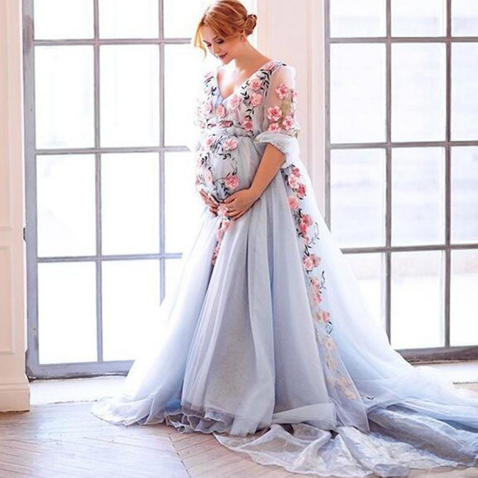 Custom-Made-Floral-Haftowane-Formalne-Party-Dress-2017-Nowy-675x675 150+ Bridal Fashion Trends and Ideas for Fall/winter 2020