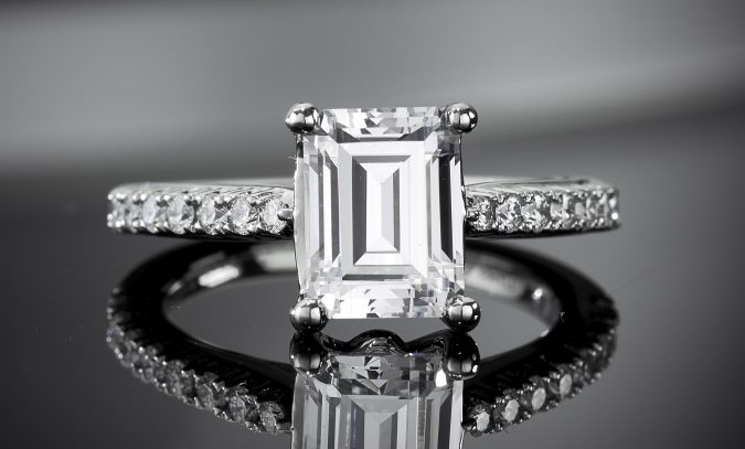 Emerald-Engagement-Ring-675x407 Diamond Cuts and Cutting Styles