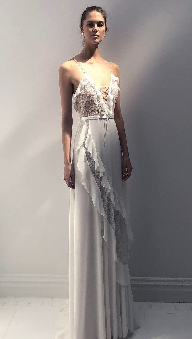 Livne-White-2019-Wedding-Dress-17-1 150+ Bridal Fashion Trends and Ideas for Fall/winter 2019